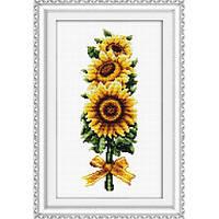 Набор для вышивания крестом «Подсолнух» DOME 90716