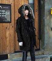 Зимняя мужская куртка парка на меху В НАЛИЧИИ РАЗМЕР XXXL, чёрный (PV_01)