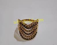 Золотое кольцо со вставками циркония 585 пробы