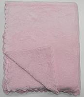 Покрывало меховое 220х240 короткий ворс Shining Star розовый