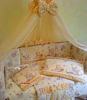 Детское постельное белье в кроватку из 8 предметов Мишутка S888