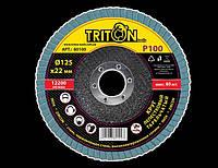 Круг лепестковый тарельчатый Triton-tools 125мм 100 (80 сегментов) 80100 (80100)