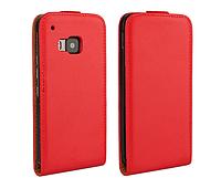 [ НТС One M9 ] Кожаный чехол-флип для телефона НТС М9 красный