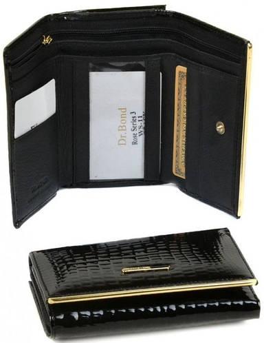 Практичный женский кошелек  Rose Series-3 с искусственной кожи dr.Bond WS-11 black (черный)