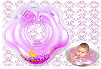 Круг на шею для купания KinderenOK Floral Фуксия + подарок!