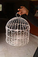 Клетка для птиц декоративная в стиле Прованс (40 на 34 см. Ручная работа)