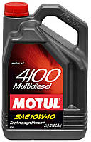 Полусинтетическое моторное масло Motul (Мотюль) 4100 Multi Diesel 10W40 5л.