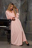 Длинное приталенное платье из шелка