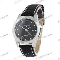 Часы женские наручные Longines Diamonds Quartz Silver/Black