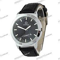Часы мужские наручные Omega Chronometer Black/Silver/Black