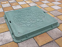 Люк квадратный зелёный (до 1,5 т)
