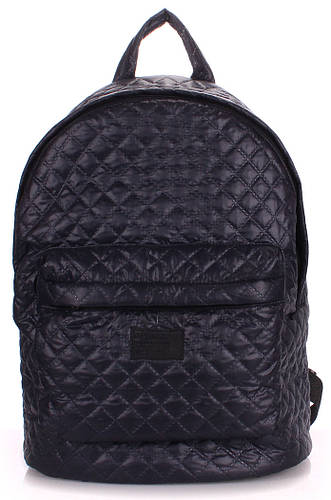 Рюкзак молодежный стеганный POOLPARTY backpack-theone-darkblue синий