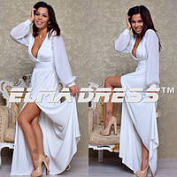 Женское белое платье в пол
