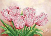 РКП-2-015 Розовые цветы весны. Схема для вышивания бисером