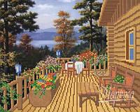 РКП-033 Дачный домик. Схема для вышивания бисером