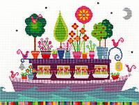 """Набор для вышивания Funky Houseboat """"Веселий плавучий будинок"""", XCR3"""
