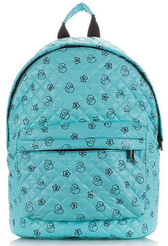 Рюкзак молодежный стеганный с принтом POOLPARTY theone-blue-ducks голубой