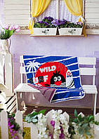 Веселое детское покрывало в кроватку с рисунком