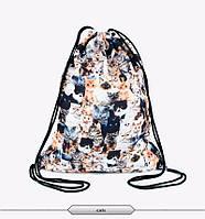 Распродажа! Городской рюкзак мешок с анималистическим принтом Кошки