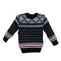 """Шерстяной свитер """"Снежинка"""" для мальчика 6-10 лет"""