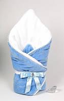 """Зимний велюровый конверт-плед на выписку """"Метелица"""" для мальчика"""