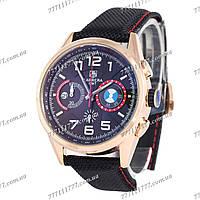 Часы наручные мужские Tag Heuer BMW quartz Chronograph Gold/Black