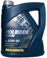 Моторное масло Mannol Molibden Benzin 10W/40, 4 л, полусинтетическое