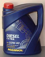 Моторное масло Mannol Diesel Extra 10W/40, 5 л, полусинтетическое