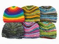 Вязанная модная шапка шерстяная Ассортимент Ручная вязка