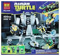 """Конструктор BELA NINJA TURTLES (Черепашки-Ниндзя) """"Нападение робота Бакстера""""10209"""