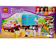 """Конструктор Bela """"Эмма и трейлер для её лошадки"""" 217 деталей арт.10161 (аналог LEGO Friends 3186)"""