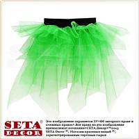 Зелёная детская юбка-пачка из фатина