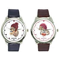 """Парные Наручные часы для влюбленных 2 пары в комплекте """"Зимуем вместе"""""""