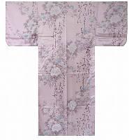 """Кимоно домашнее  """"Стих и цветы"""" (искусственный шелк)"""