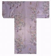 """Юката из Японии  """"Маленькая принцесса и цветы"""" (искусственный шелк)"""