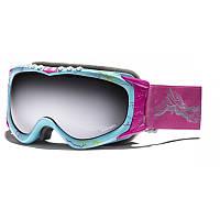 Горнолыжная маска Mistress level 4 Spherical - Turquoise w Pink Lightning Print - Pink w Silver Mirror
