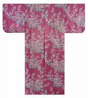 """Юката из Японии  """"Цветы"""" (искусственный шелк)"""
