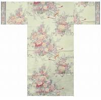 """Юката из Японии  """"Букет цветов"""" (искусственный шелк)"""