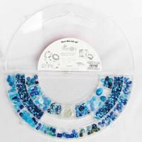 Бусины Crystal Art  TURQ/BLUE BIG HALF ROUND