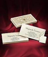 Пригласительные цвета айвори в красивой коробочке, оригинальные свадебные приглашения, заказать,