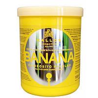 Маска для укрепления волос с экстрактом банана - Kallos Cosmetics Banana Mask 1000ml (Оригинал)