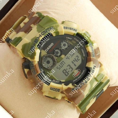 Практичные спортивные наручные часы Casio GA-100A Militari Brown 6041