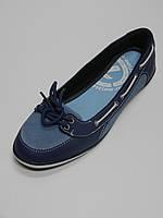 Балетки синие женские кожаные Украина Restime размеры 38,40