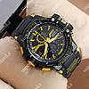 Надежные спортивные наручные часы Casio D-1365A Black/Yellow 6057