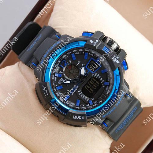 Молодежные спортивные наручные часы Casio GW-A1100 Black/Blue 6078