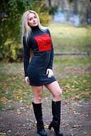 Женское платье ангора с флоком , фото 1