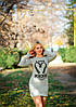 Женское платье вискоза с начёсом 2 расцветки