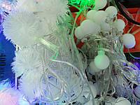 Новогодняя гирлянда  30ламп(шарик,пух)