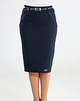 Женская юбка с брошкой и вставками из черной ткани, фото 1