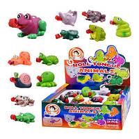 Игрушка-пищалка Животные с надувающимся язычком 24 штуки Play Fun 8888 S